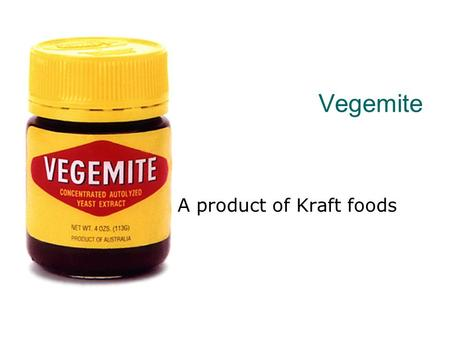 A product of Kraft foods