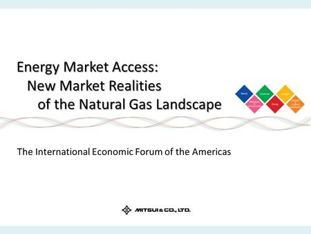 Energy Market Access: New Market Realities of the Natural Gas Landscape The International Economic Forum of the Americas.