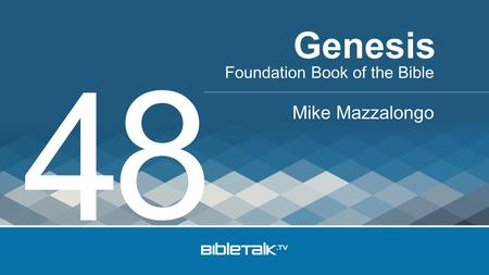 Foundation Book of the Bible Mike Mazzalongo Genesis 4 8.
