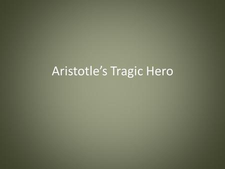 aristotles definition of oedipus tragic character Aristotle's definition for a tragic hero is one we will write a cheap essay sample on aristotles tragic hero oedipus is blind at the beginning.