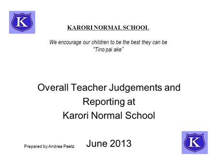 Overall Teacher Judgements and