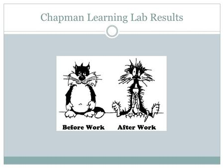 Chapman Learning Lab Results. WHAT? WHY? HOW? Assessment.
