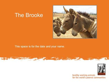 This space is for the date and your name. The Brooke.