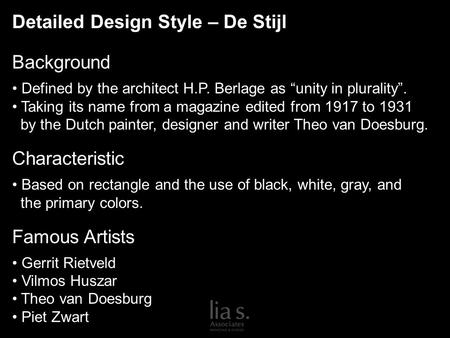CHARACTERISTICS of DE STIJL: ideas of spiritual harmony ... | 450 x 338 jpeg 24kB