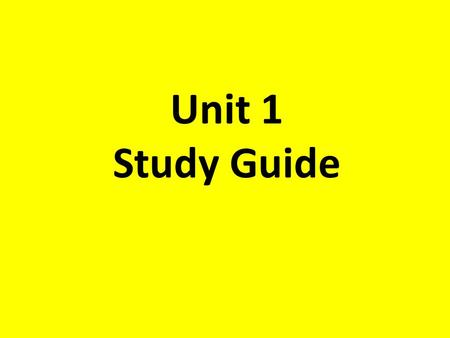 Unit 1 Study Guide. Find the Product Find the GCF of 24 and 48.