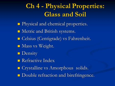Forensic science analysis of glass and soil evidence for Physical and chemical properties of soil wikipedia