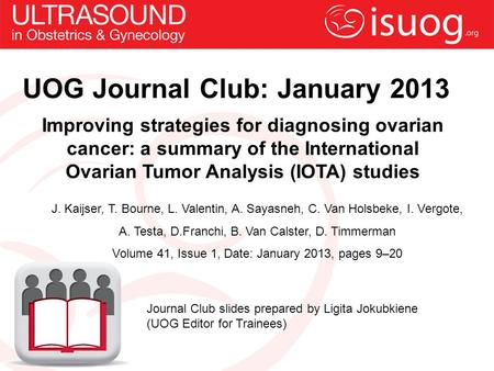 UOG Journal Club: January 2013