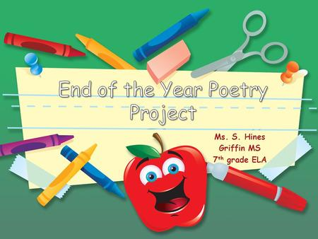 End of the Year Poetry Project