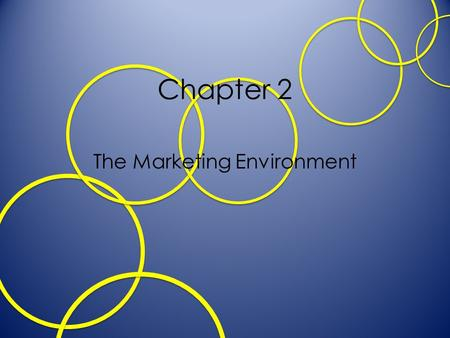 Chapter 2 The Marketing Environment. Learning Objectives Understand the importance of monitoring change in the marketing environment Describe how trends.