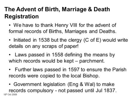 Founders of harvey settlement york co new brunswick - Registry office of births marriages and deaths ...