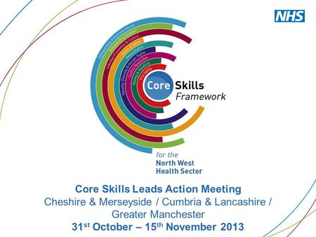 Core Skills Leads Action Meeting Cheshire & Merseyside / Cumbria & Lancashire / Greater Manchester 31 st October – 15 th November 2013.