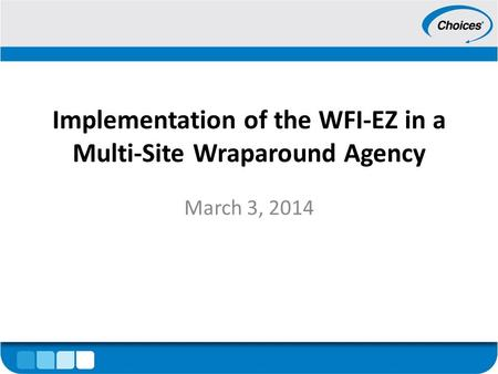 Implementation of the WFI-EZ in a Multi-Site Wraparound Agency March 3, 2014.