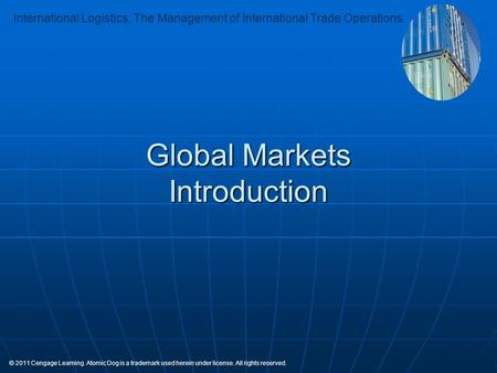 Global Markets Introduction