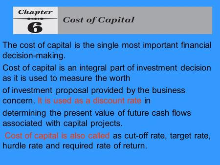 Major Considerations in Capital Structure Planning
