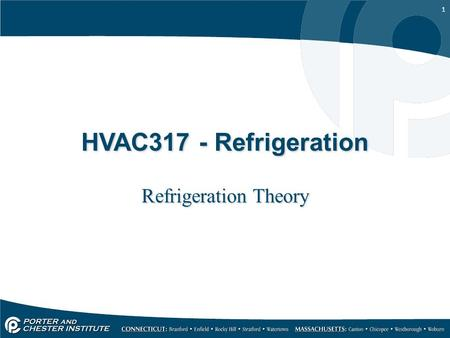 1 HVAC317 - Refrigeration Refrigeration Theory. 2 Terms Heat: A form of energy. Refrigeration: The process of removing heat from a space. British Thermal.