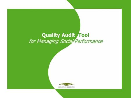 Quality Audit Tool for Managing Social Performance.