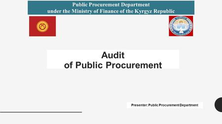 Audit of Public Procurement