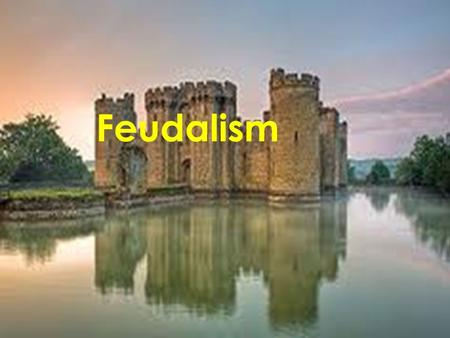 Feudalism. Feudalism Defined  The political system that develop to protect against these invasions as well as local threat is called FUDEALISM.