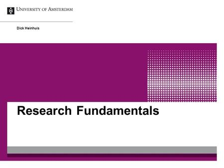 Research Fundamentals Dick Heinhuis. Programme May 8 th : - Influences on Research - Reading an <strong>article</strong> May 15 th : - Research question(s) - <strong>Conceptual</strong>.