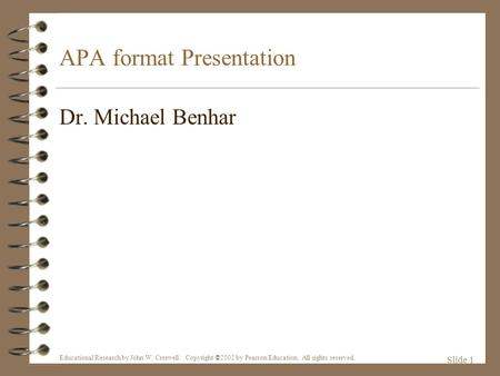 APA (American Psychological Association) Style