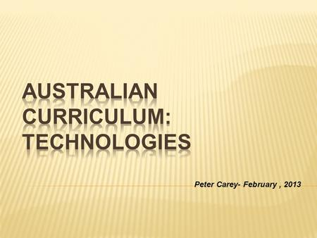 Peter Carey- February, 2013. Because of the way the Australian Curriculum is presented - using content descriptors, the ICT General Capability is not.