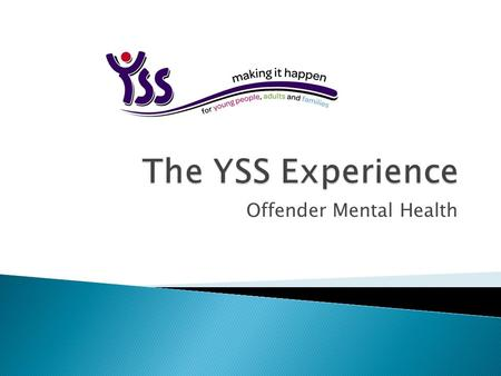 Offender Mental Health.  YSS has over 25 years experience of working with people who have offended and designing and developing innovate services to.