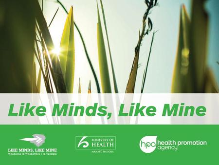 Community Partnership Fund Information Session Health Promotion Agency Mental health programmes in Aotearoa Like Minds, Like Mine Community Partnership.