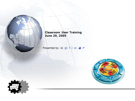 Classroom User Training June 29, 2005 Presented by: