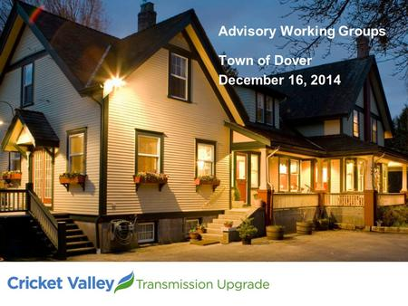 Advisory Working Groups Town of Dover December 16, 2014.