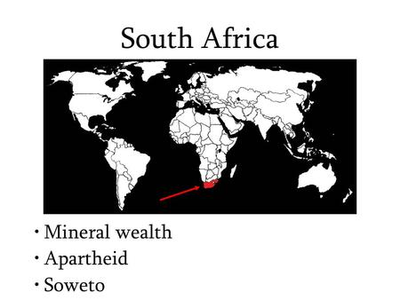 South Africa Mineral wealth Apartheid Soweto. Describe the landscape surrounding Johannesburg.
