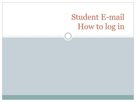 Student  How to log in. You may start at the JSCC home page at  Click on STUDENT  which is located on the left side.http://www.jamessprunt.edu.