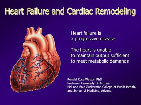 Heart failure is a progressive disease The heart is unable to maintain output sufficient to meet metabolic demands Heart failure is a progressive disease.