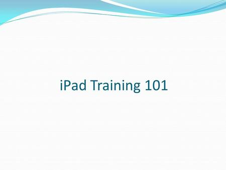<strong>IPad</strong> Training 101. View the most recently used apps: Double-click the Home button. The most recently used apps appear in the multitasking bar at the bottom.