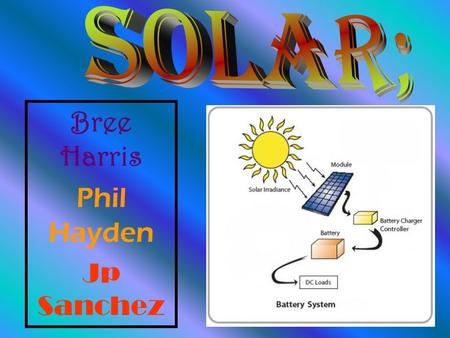 Bree Harris Phil Hayden Jp Sanchez. ▲Each panel has a certain number of solar cells or photovoltaic cells that are in a certain order and are wired together.
