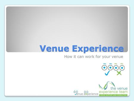 Venue Experience How it can work for your venue. Logon Screen.