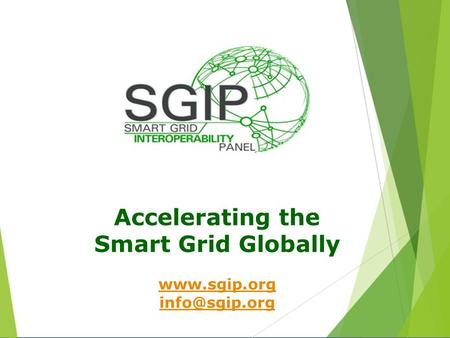 Accelerating the Smart Grid Globally