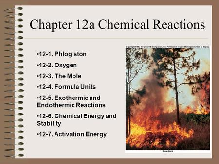 Chapter 12a Chemical Reactions