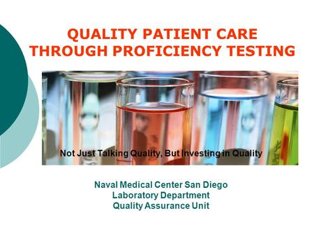 THROUGH PROFICIENCY TESTING