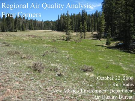 Regional Air Quality Analysis: Four Corners