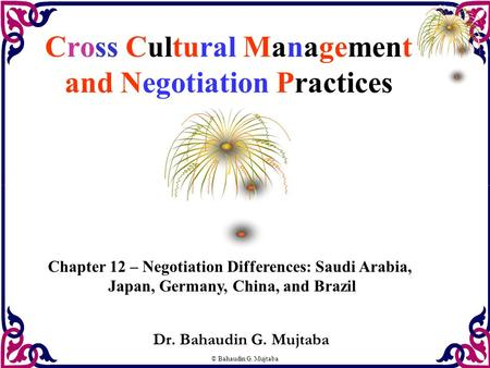 Cross Cultural Management and Negotiation Practices