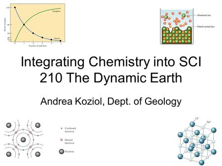 Integrating Chemistry into SCI 210 The Dynamic Earth Andrea Koziol, Dept. of Geology.