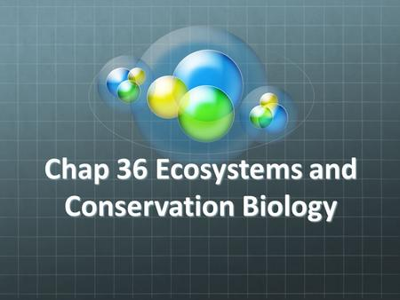 Chap 36 Ecosystems and Conservation Biology. 36.1 Feeding Relationships Every organism requires energy to carry out life processes such as growing, moving,