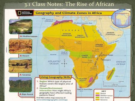 3.1 Class Notes: The Rise of African Civilizations.