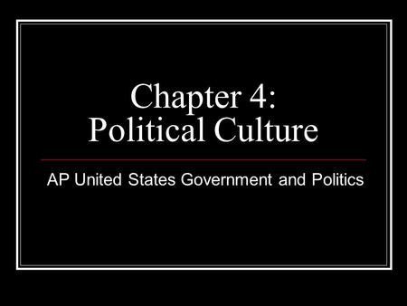political culture of the united states
