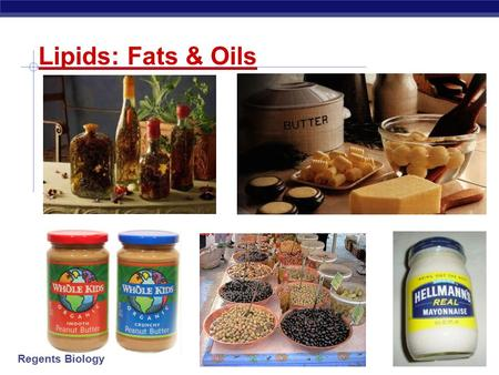 Regents Biology 2003-2004 Lipids: Fats & Oils Regents Biology 2003-2004 Lipids Concentrated energy molecules.