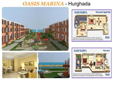 OASIS MARINA - Hurghada. Phase one of Oasis Marina has just been launched onto the market. As a result, the best apartments in the resort (those closest.