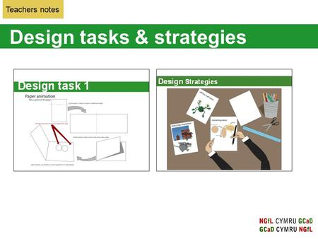 Design tasks & strategies Teachers notes. Design task 1: the concept of this focus task is to explain how an animation functions by quickly flicking from.
