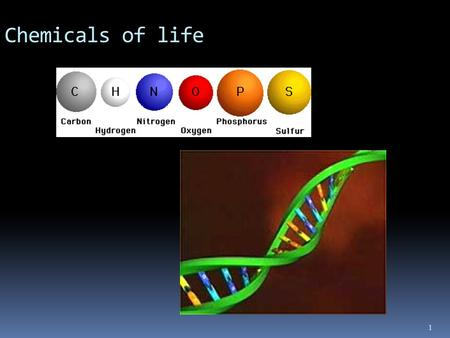 1 Chemicals of life. 2015/9/9 2 The Macromolecules of cells.