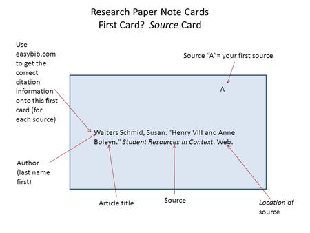 Using notecards for research papers