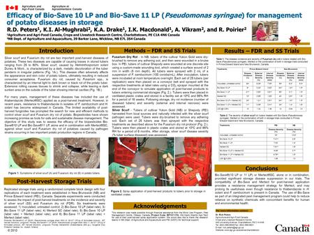 Efficacy of Bio-Save 10 LP and Bio-Save 11 LP (Pseudomonas syringae) for management of potato diseases in storage Introduction Results – FDR and SS Trials.